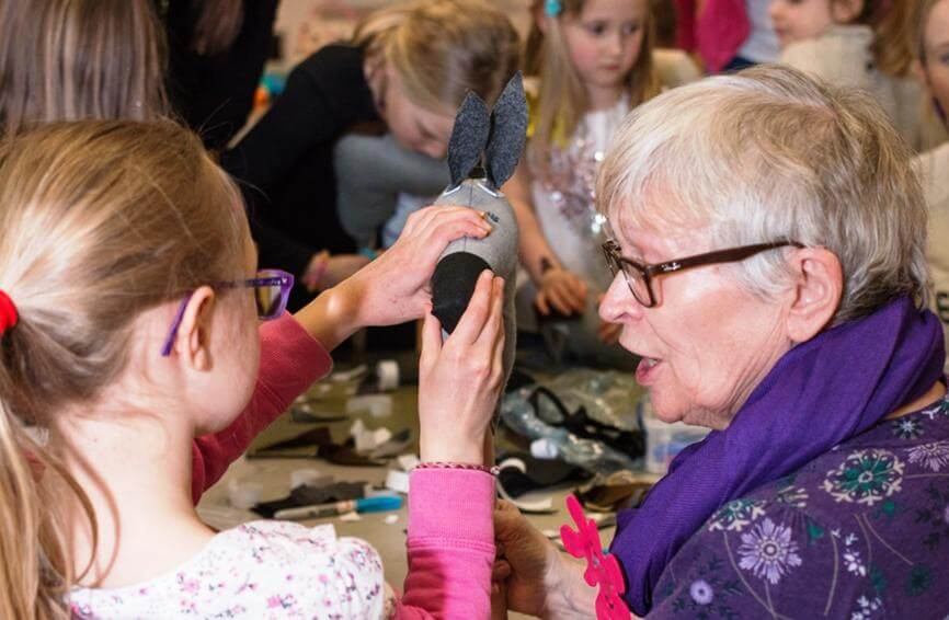 Old and young ladies at messy church